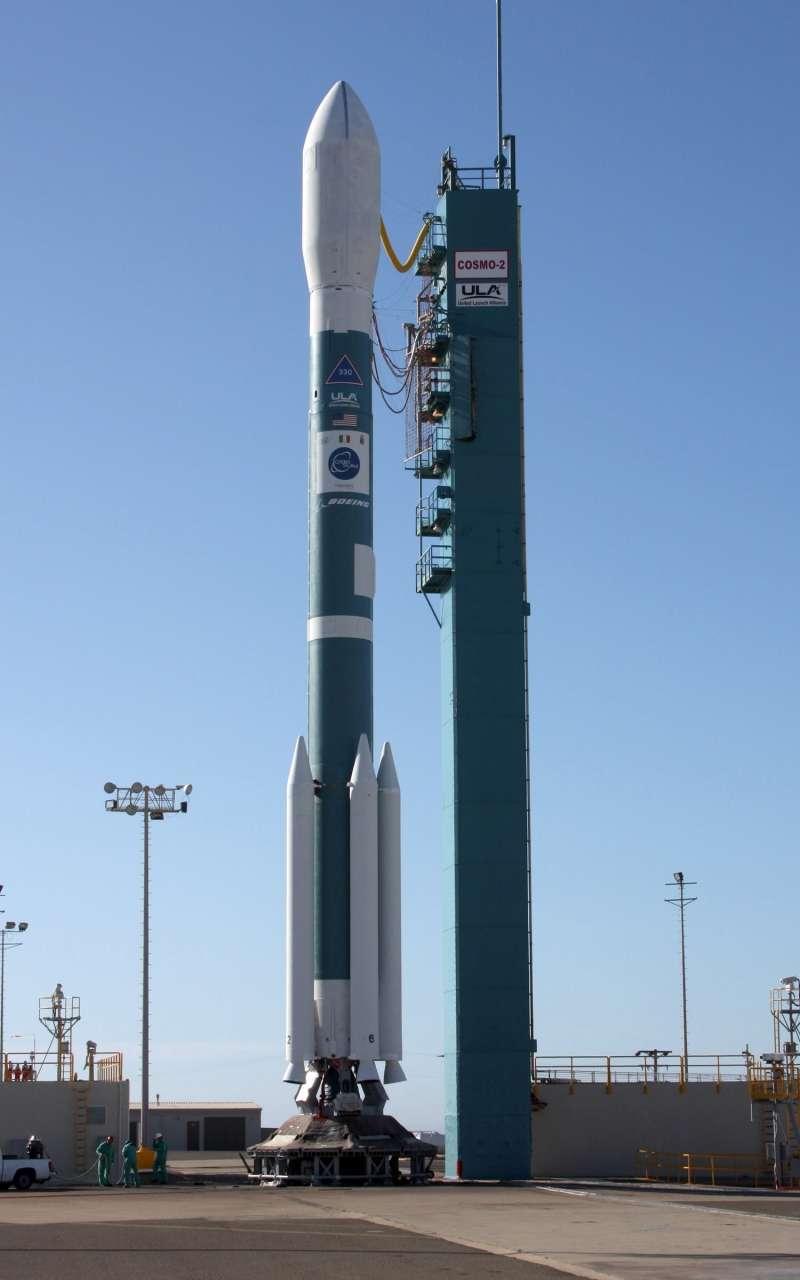 Le satellite en perdition a peut-être été lancé par une fusée Delta II sur la base Vandenberg, de l'armée de l'air US. © Vandenberg Air Force Base