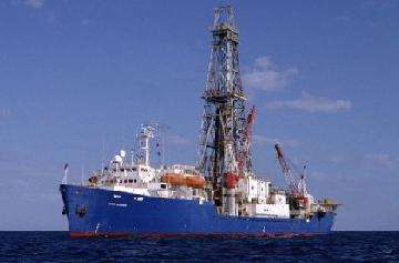 Le navire foreur Joides Resolution Crédit : http://www.deepwater.com