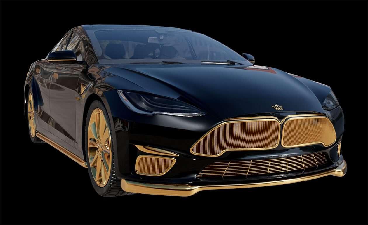 La Tesla Model S Plaid+ personnalisée par Caviar. Une certaine idée de l'élégance... © Caviar