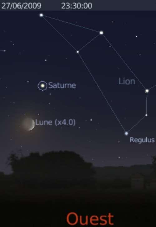La Lune est en rapprochement avec la planète Saturne