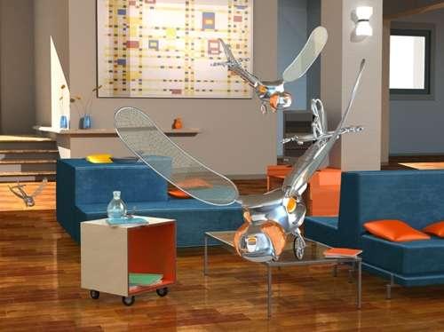 Une vue d'artiste d'un aéronef « bioinspiré », comme ceux sur lesquels travaillent désormais de nombreux ingénieurs. © lis.epfl.ch & tangherlini.it