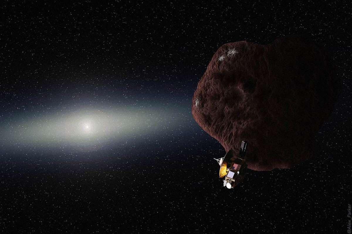 Avant le lancement de New Horizons, son réservoir contenait 77 kilogrammes d'ergols (hydrazines). Il en resterait encore quelque 35 kilogrammes. Une quantité suffisante pour effectuer des corrections de trajectoire et ajuster la vitesse de la sonde jusqu'à 130 mètres par seconde. Celle-ci pourrait ainsi visiter un objet de la ceinture de Kuiper. © Alex Parker