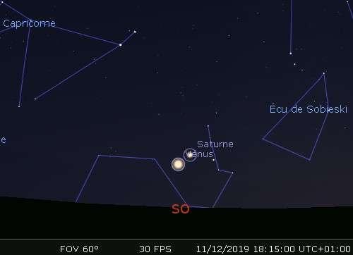 Vénus en rapprochement avec Saturne
