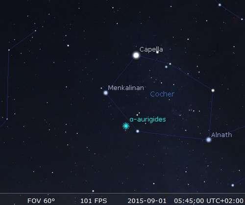 Le Cocher accueillera les restes de la comète Kiess 1911 II... © DR
