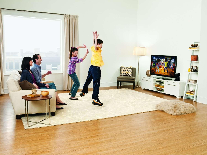 Kinect est d'abord conçu pour la famille dans son salon : on y joue et on regarde des vidéos. © Microsoft