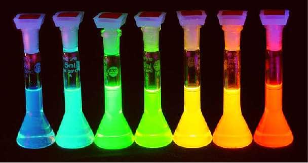 De bien belles couleurs générées par des boîtes quantiques en suspension. Crédit : Andrey Rogach