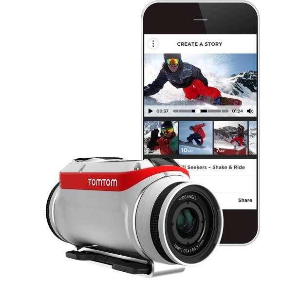Avec sa caméra Bandit, TomTom espère se faire une place sur le marché très convoité des caméras sportives tout terrain. © TomTom