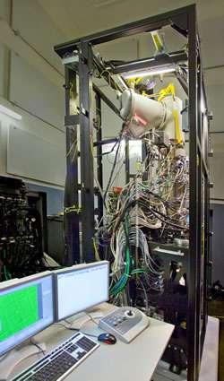 Le team 0.5 est encore un prototype plutôt encombrant... © Roy Kaltschmidt/Berkeley Lab CSO
