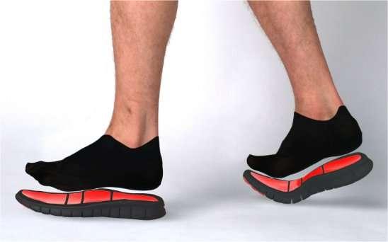 Une des idées du projet Supradesign : des semelles sans contact sur lesquelles les pieds (et le corps) léviteraient. De quoi éviter les ampoules. © ENSCI-Supradesign