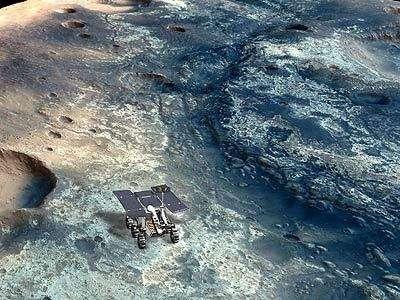 Grâce à la cartographie du sol martien réalisée par l'instrument de Mars Express OMEGA, les astronomes ont identifié des zones de Mars qui auraient pu abriter la vie Ces lieux sont autant de sites d'atterrissage privilégiés pour les futurs Mars Rove