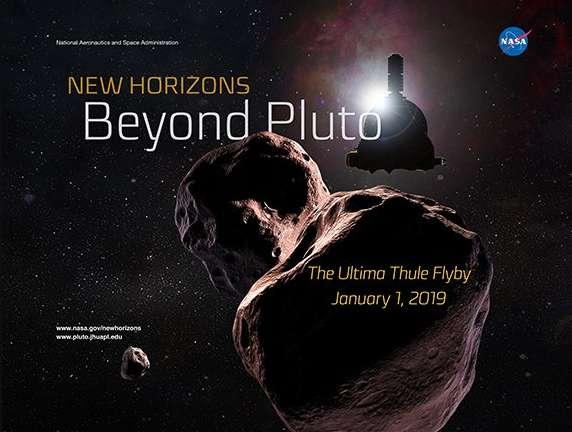 Le jour de l'an, New Horizons a survolé l'astéroïde Ultima Thulé, le plus lointain objet céleste jamais visité par une sonde. © Nasa/JHUAPL/SwRI