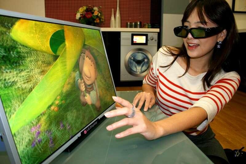 Un écran 3D montré par LG Electronics qui, comme d'autres constructeurs, s'intéresse depuis longtemps à la télévision en relief. © LG Electronics