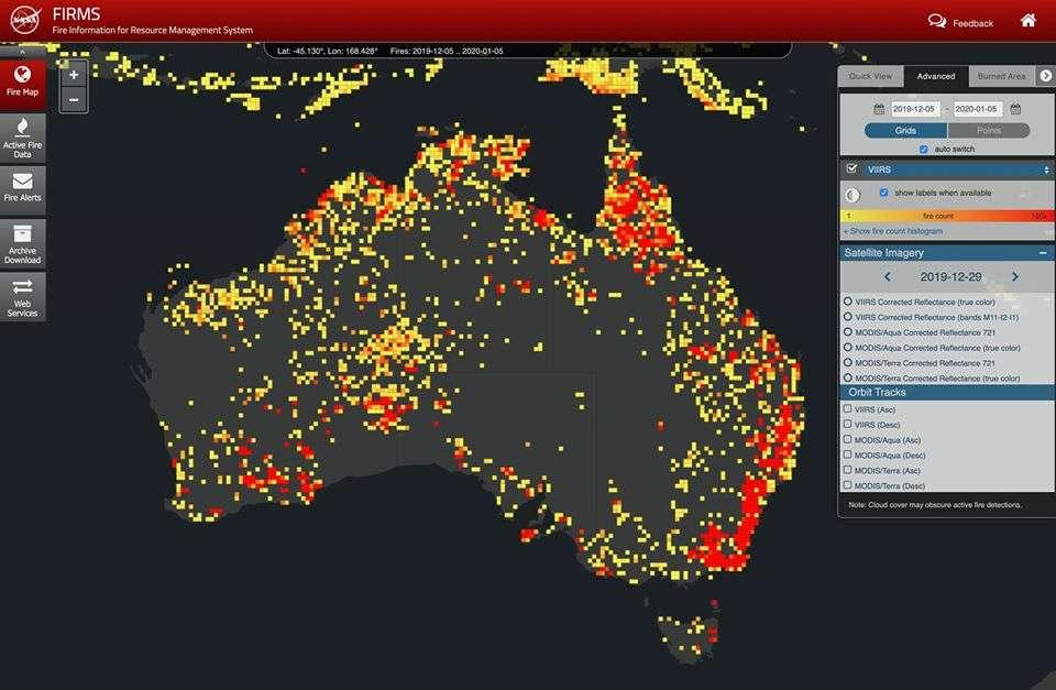 incendie portugal carte 2020 Brève | Non, cette image de l'Australie en feu n'est pas une photo