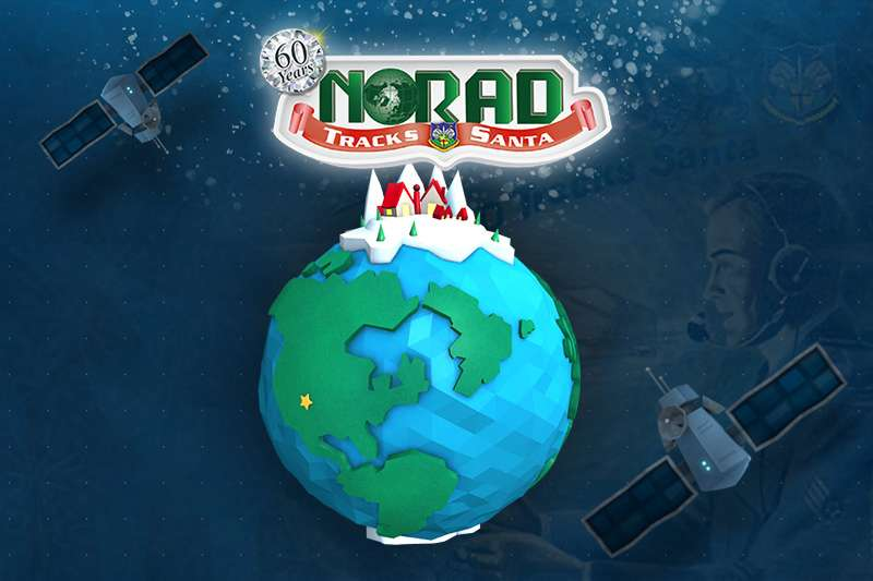 Depuis 1955, tous les 24 décembre, le programme Norad Tracks Santa suit le père Noël dans sa tournée. © DP