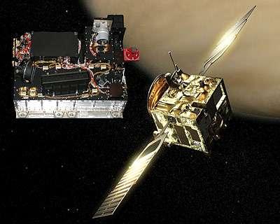 Senseur OIP pour le spectromètre Spicam/SOIR à bord de la sonde Venus Express de l'Esa (Crédits: VRI/Esa).