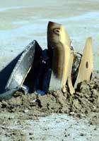 La sonde après son crash