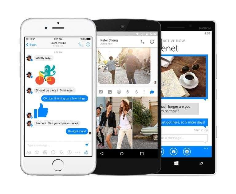 Messenger, la messagerie instantanée de Facebook est devenue une application indépendante du réseau social. Après avoir été déclinée en application pour smartphones, elle est désormais accessible via un navigateur Internet à l'adresse www.messenger.com. © Facebook