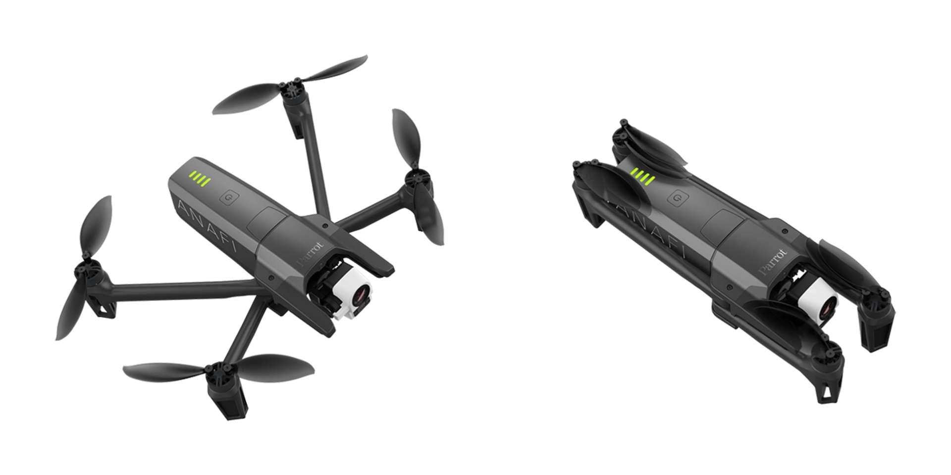 Le drone pliable Parrot Anafi Thermal est équipé d'une caméra thermique. © Courtesy of Parrot/Parrot Anafi Thermal