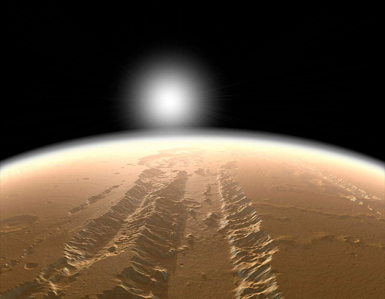 Avec le lancement en 2013 d'une sonde à destination de Mars, l'Inde, en compétition perpétuelle avec la Chine, a l'occasion d'arriver avant elle autour de la Planète rouge. À l'image, le grand canyon Valles Marineris. © orbitmars.futura-sciences.com/Nasa/JPL