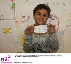 L'un des deux enfants traités. Il va bien. © ELA