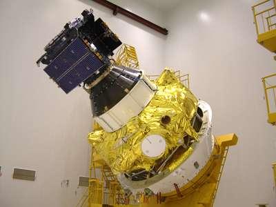 Le satellite GIOVE-A, démonstrateur de Galileo et actuellement en orbite. Crédit ESA.