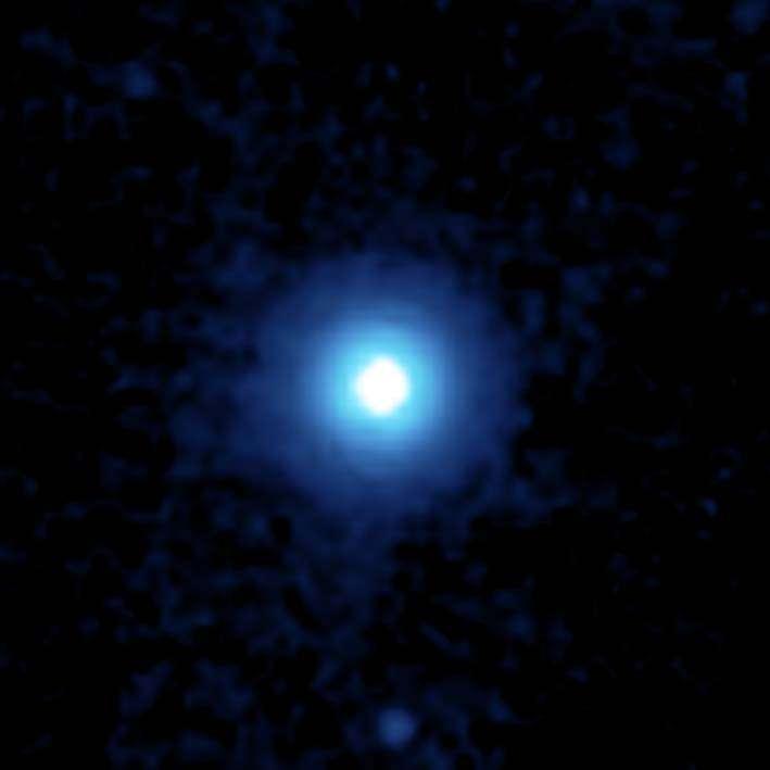 L'étoile Véga et son disque de débris vus par le télescope spatial Spitzer. © Nasa