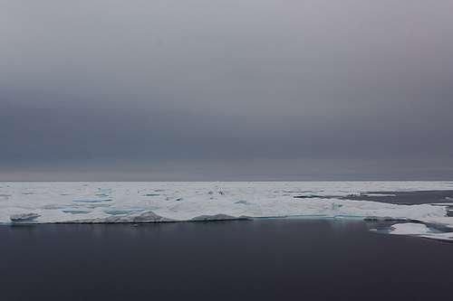 La banquise se forme lorsque la surface de la mer gèle. Elle contient des poches de saumure. © Danielguip CC b-nc-sa
