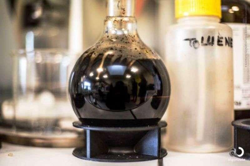 Les alchimistes cherchaient à faire de l'or avec du plomb. Les chimistes modernes n'ont plus besoin de l'or noir pour fabriquer du bitume : ils ont désormais les microalgues. © Algoroute