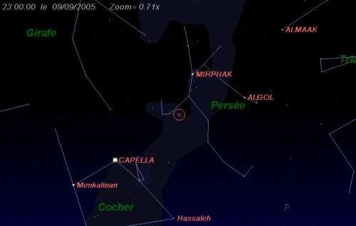 Maximum de l'essaim des météores des delta-Aurigides