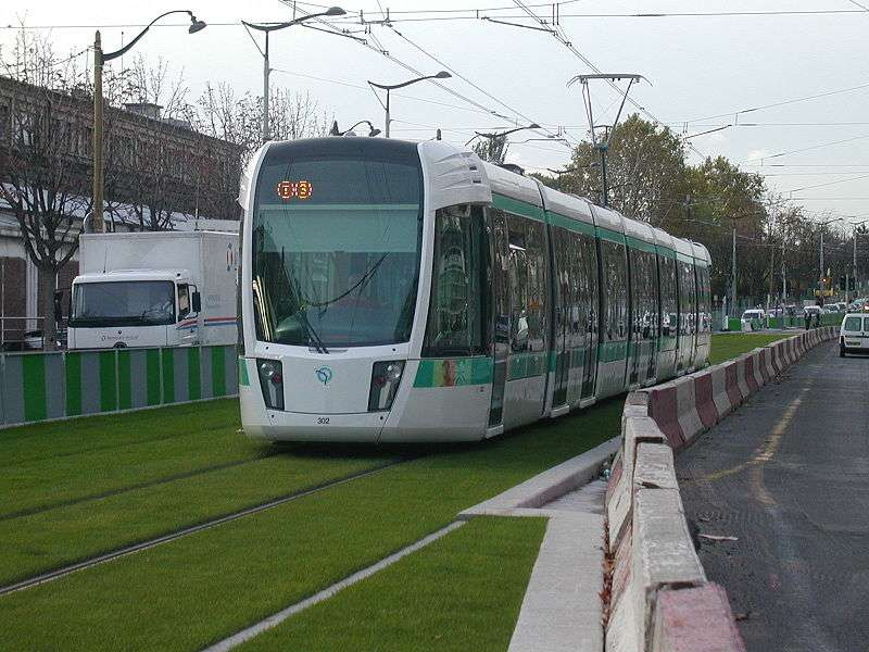 Les trams, des transports urbains propres. © Gérard Delafond CC by-sa