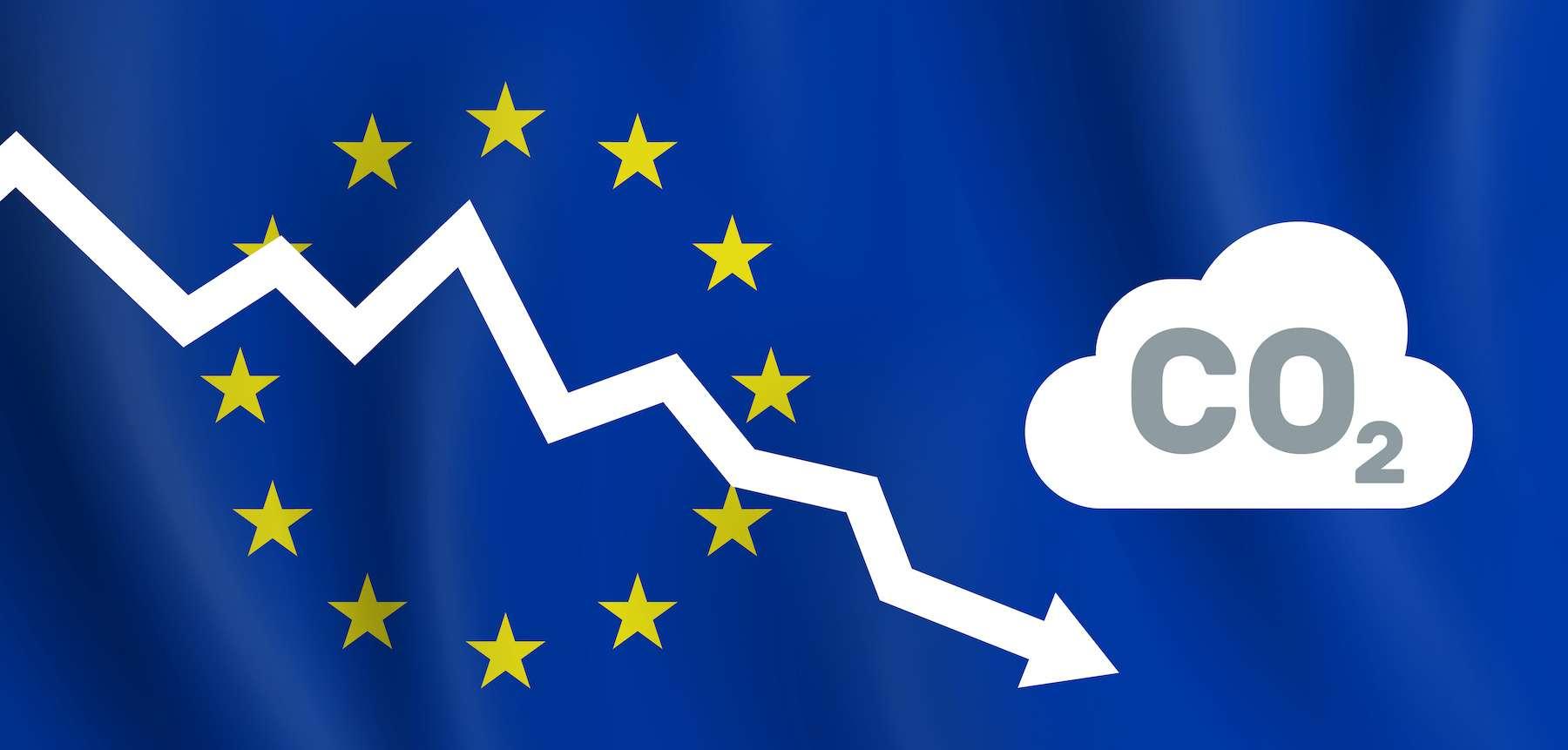 La réduction de 55 % des émissions de gaz à effet de serre en Europe ne serait atteinte qu'en 2051. © tarikdiz, Adobe Stock