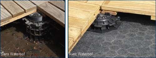Une pompe de relevage sert à relever le niveau d'eau. Ici une pompe de relevage de toiture. © Siplast, CC BY ND 2.0, Flickr
