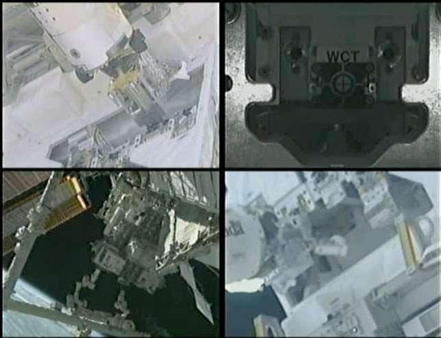 Ces images montrent toute l'agilité de Dextre en train d'effectuer une série de tâches robotiques pendant son expérience de ravitaillement de satellite. © Nasa