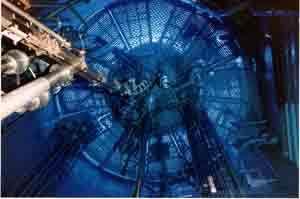Vue de l'interieur d'un réacteur nucléaire