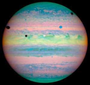 Triple éclipse pour Jupiter : Io, Ganymede et Callisto de la partie