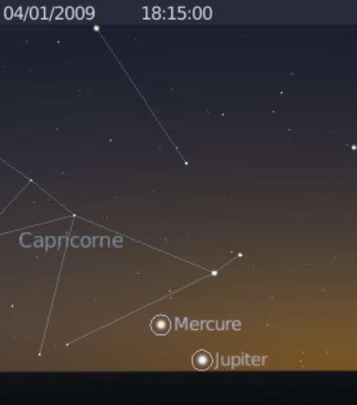 Elongation maximale de Mercure à l'est du Soleil