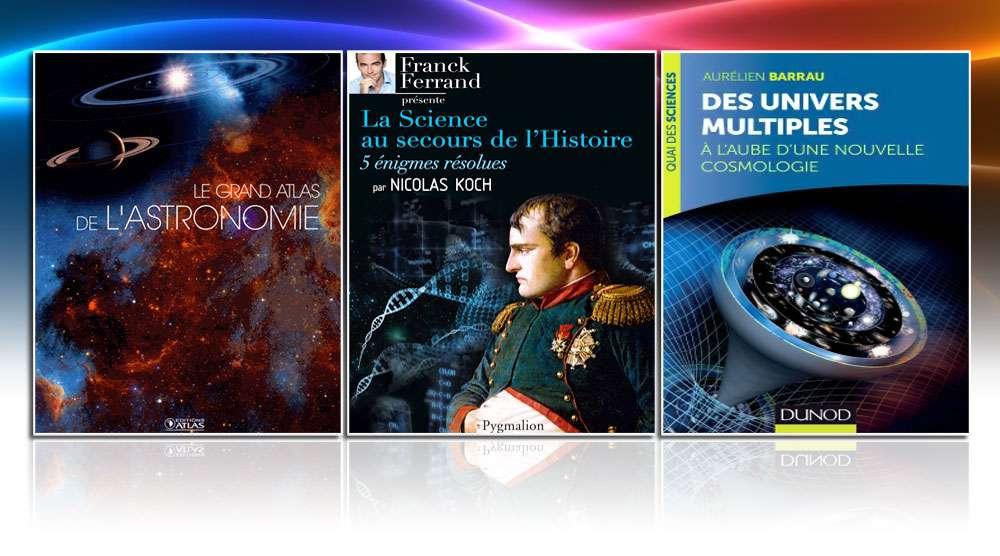 Trois livres de sciences et d'images. © DR