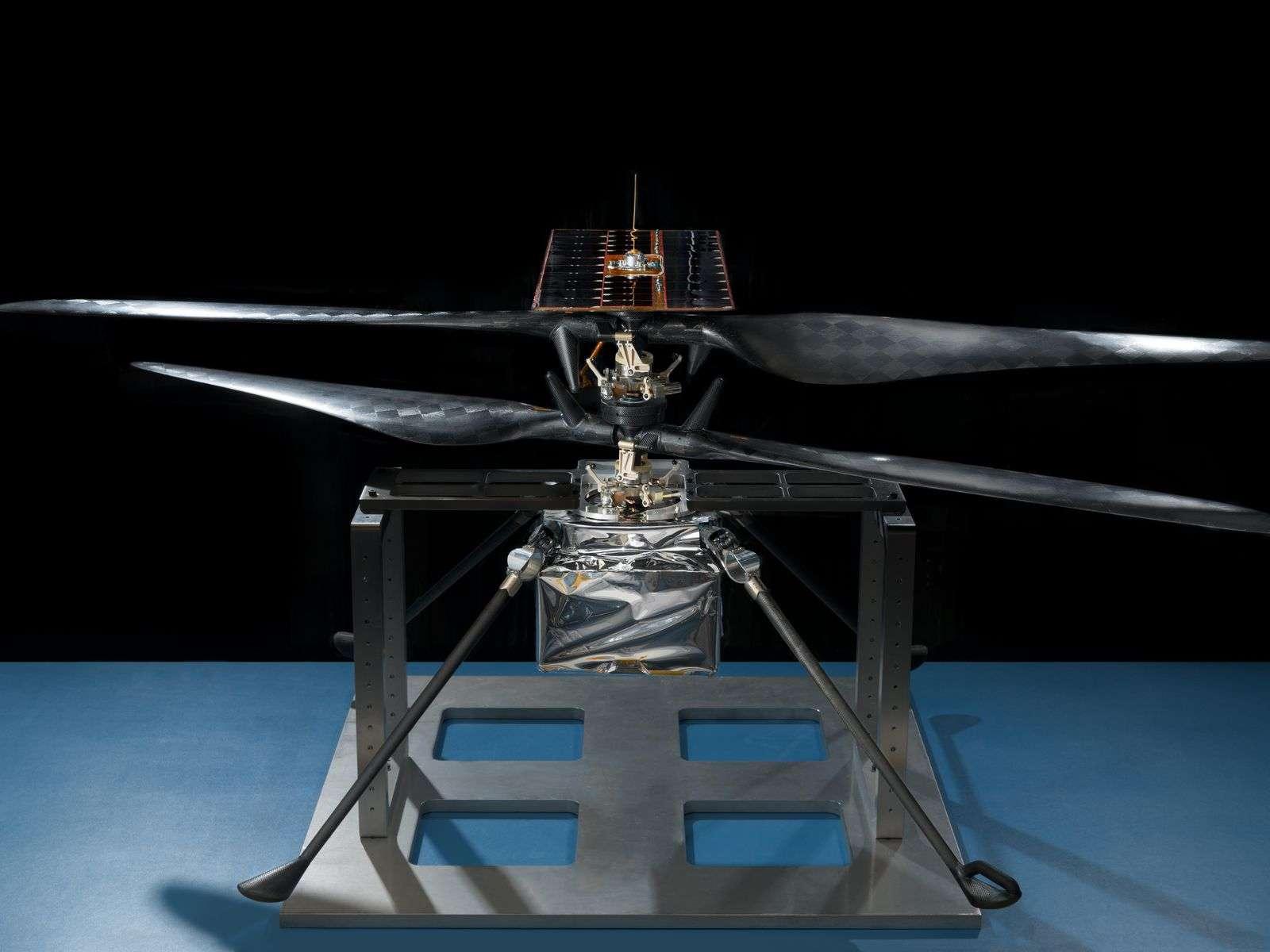 L'hélicoptère de la mission Mars 2020 le 14 février 2019 au Jet Propulsion Laboratory (JPL), en Californie. © Nasa/JPL-Caltech