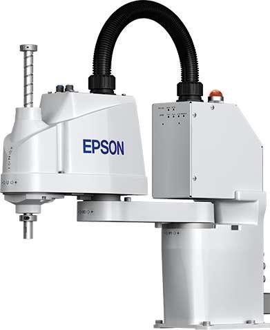 Epson lance un concours de robotique avec la possibilité de gagner jusqu'à trois robots série T. Ce sont des robots de manutention SCARA (Selective Compliance Assembly Robot Arm) utilisés couramment pour automatiser les chaînes de montage, c'est-à-dire l'assemblage des produits. Les candidats doivent leur trouver de nouvelles applications. © Epson