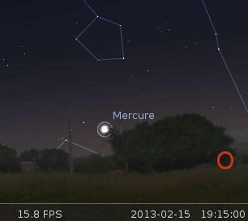 Élongation maximale de Mercure