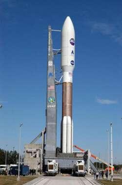 La fusée Atlas V, dernier-né de la famille des lanceurs développés par Lockheed Martin dans le cadre du programme EELV (Crédits : NASA)