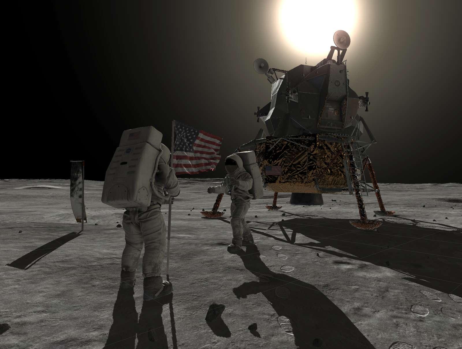 Marchez sur la Lune dans les pas de Neil Armstrong, 50 ans après. © Smithsonian