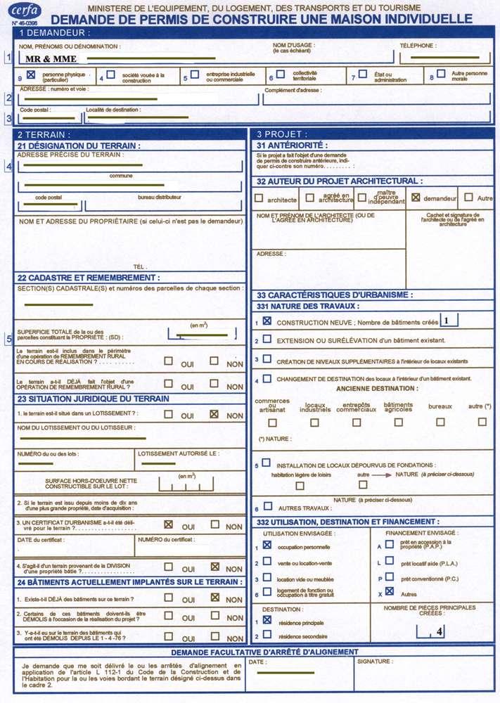 Demande de permis de construire - Crédits : DR.