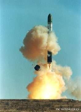 Décollage d'un lanceur Dnepr(Crédits : ISC Kosmotras)