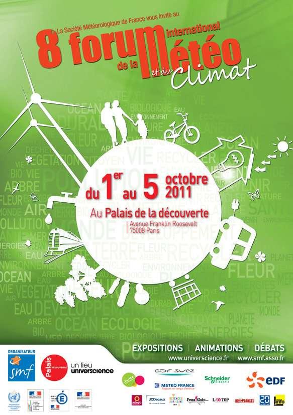 La météo tient son forum international à Paris du 1er au 5 octobre. © Forum international de la météo