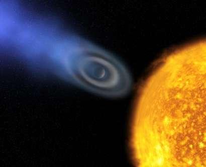 Exo-planète Osiris HD249458B découverte par HubbleCrédit : ESA