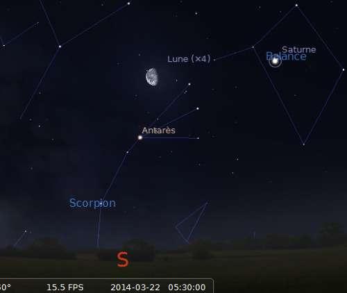 La Lune en rapprochement avec Antarès