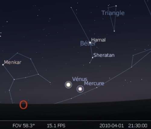 Les planète Vénus et Mercure sont en rapprochement