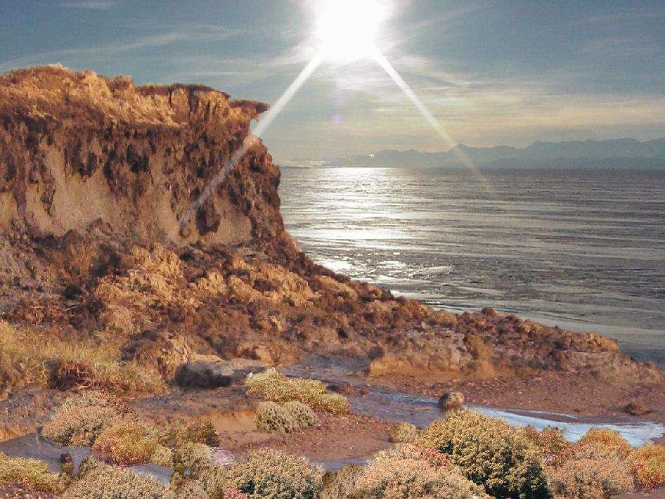 Le littoral de l'Antarctique durant le Miocène moyen, il y a environ 16 millions d'années, reconstitué d'après les restes fossilisés de végétaux. L'effet de serre était alors important. Durant l'Éocène, il l'était encore et, de plus, l'Australie et l'Antarctique étant alors encore presque connectés, des eaux tropicales réchauffaient l'océan Austral. © Nasa, JPL, Caltech, Philip Bart, LSU