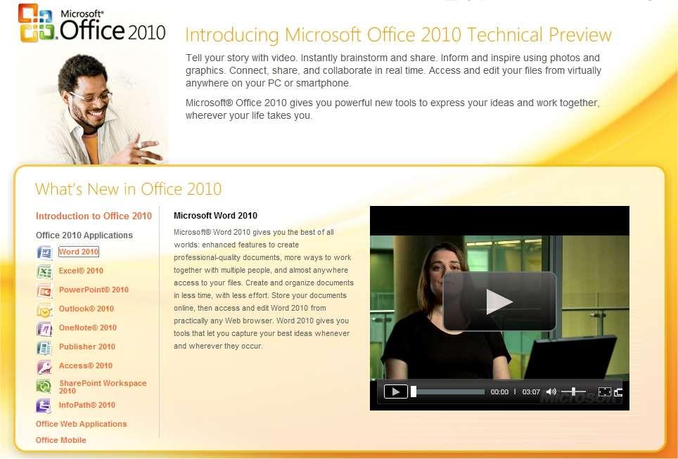 Microsoft a mis en ligne un site dédié à Office 2010 pour en expliquer les fonctionnalités.